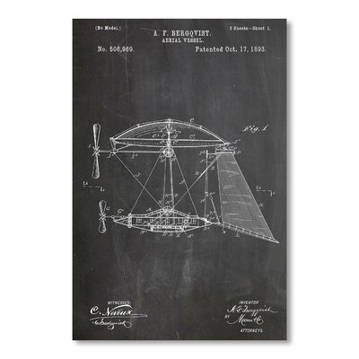 Americanflat Aerial Vessel by House of Borders Graphic Art in Grey