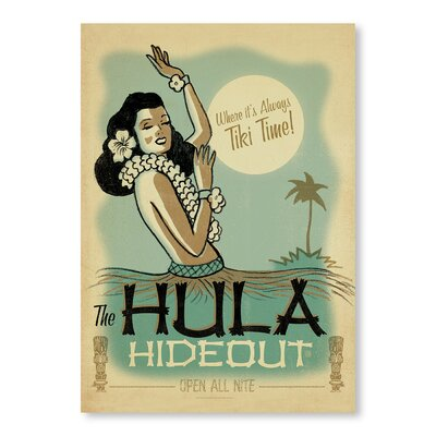 Americanflat Hula Hide Out by Anderson Vintage Advertisement Wrapped on Canvas