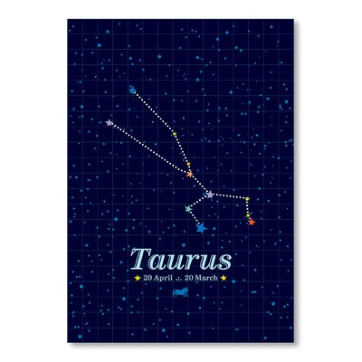 Americanflat Taurus by Patricia Pino Graphic Art in Blue