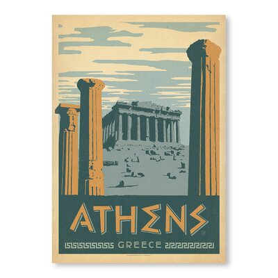 Americanflat Athens by Anderson Design Group Vintage Advertisement Wrapped on Canvas