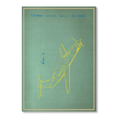 Americanflat Airplane II by Blue Print Images Graphic Art