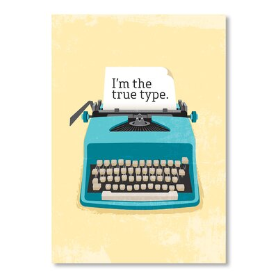 Americanflat Typewriter by Patricia Pino Graphic Art on Canvas