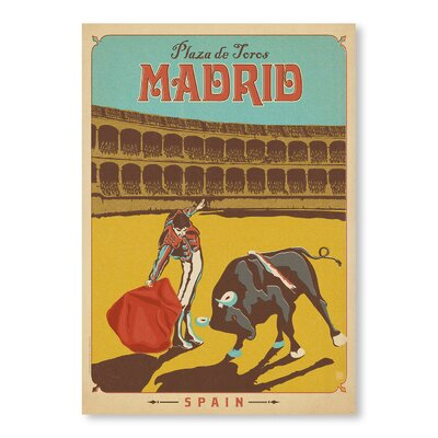 Americanflat Madrid Vintage Advertisement Wrapped on Canvas