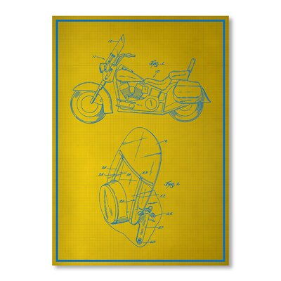 Americanflat Motorcycle Graphic Art on Canvas