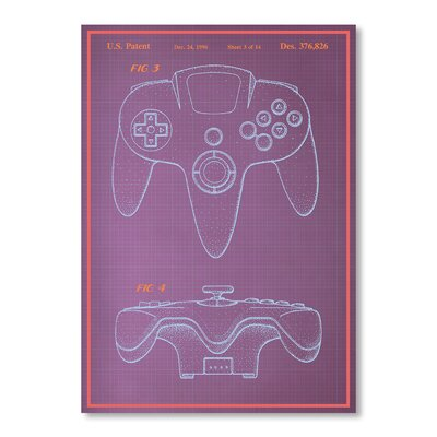 Americanflat Joystick by Blue Print Images Graphic Art in Purple