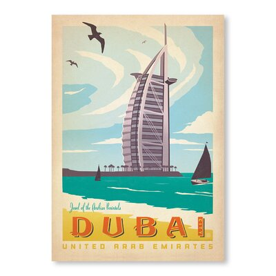 Americanflat Dubai by Anderson Design Group Vintage Advertisement Wrapped on Canvas
