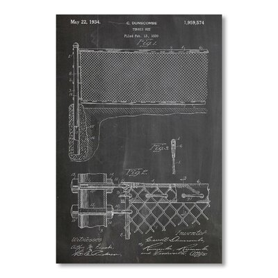 Americanflat Tennis Net by House of Borders Graphic Art in Grey