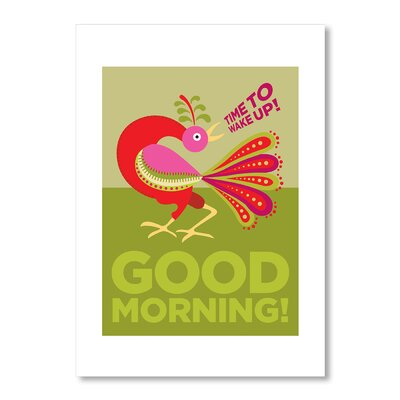 Americanflat Good Morning Rooster Graphic Art on Canvas