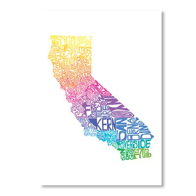 Americanflat California Spring Print by Crystal Capritta Typography in White