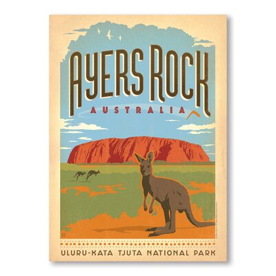 Americanflat Ayers Rock by Anderson Design Group Vintage Advertisement Wrapped on Canvas