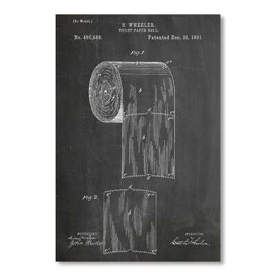 Americanflat Toilet Paper Roll by House of Borders Graphic Art in Grey