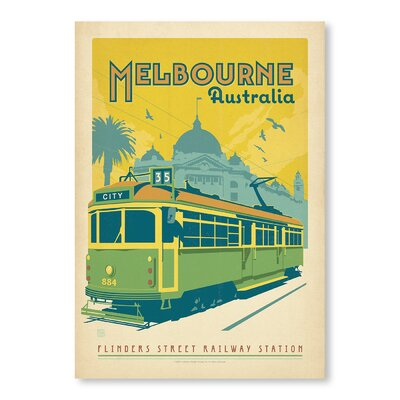 Americanflat Melbourne Trolley by Anderson Design Group Vintage Advertisement Wrapped on Canvas