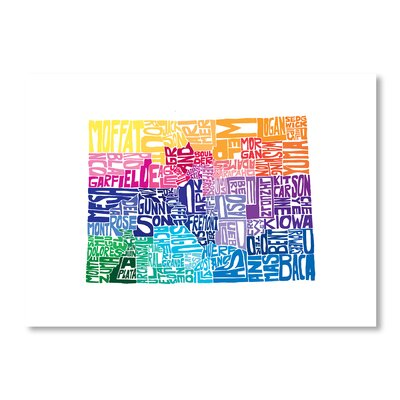 Americanflat Colorado Spring by Crystal Capritta Typography Wrapped on Canvas