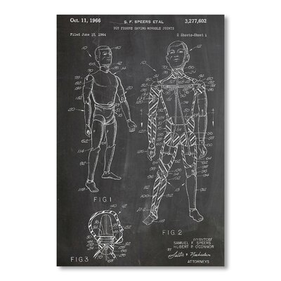 Americanflat Toy Figure Joints by House of Borders Graphic Art in Grey
