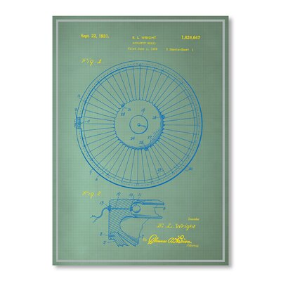 Americanflat Roulette Wheel I Graphic Art in Green