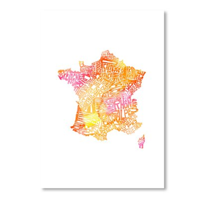 Americanflat France Water by Crystal Capritta Graphic Art in Orange
