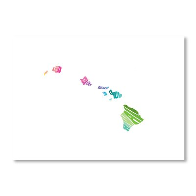 Americanflat Hawaii by Crystal Capritta Typography Wrapped on Canvas