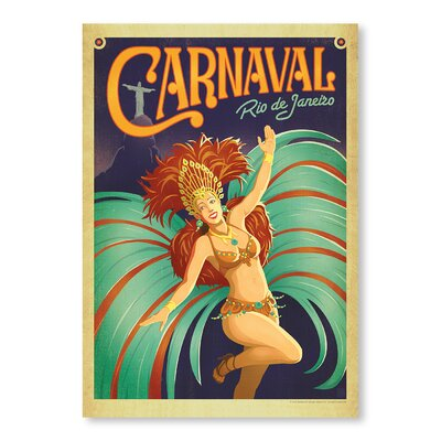 Americanflat Carnaval by Anderson Design Group Vintage Advertisement Wrapped on Canvas