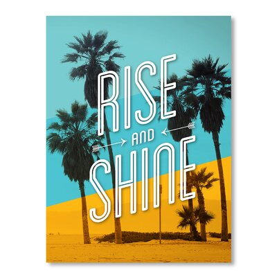 Americanflat Rise and Shine Beach by Brett Wilson Graphic Art in Blue
