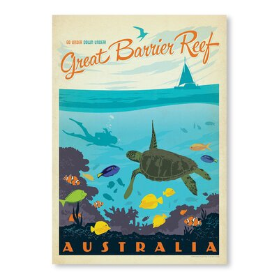 Americanflat Great Barrier Reef by Anderson design Group Vintage Advertisement Wrapped on Canvas