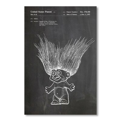 Americanflat Troll Doll by House of Borders Graphic Art in Grey