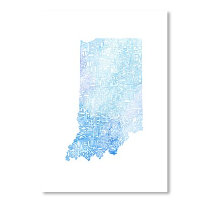 Americanflat Indiana Cool by Crystal Capritta Typography on Canvas