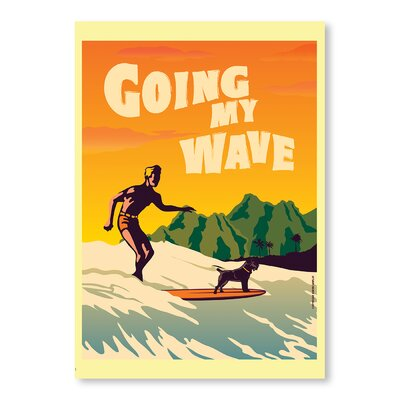 Americanflat Going My Wave by Diego Patino Vintage Advertisement