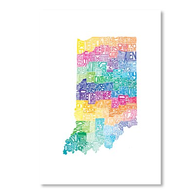 Americanflat Indiana Spring by Crystal Capritta Typography Wrapped on Canvas
