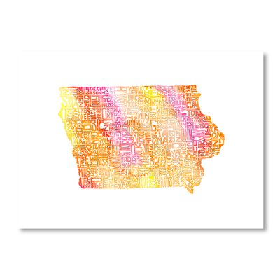Americanflat Iowa by Crystal Capritta Typography on Canvas