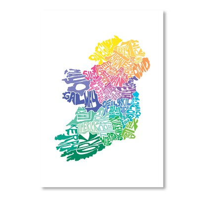Americanflat Ireland Spring by Crystal Capritta Typography Wrapped on Canvas