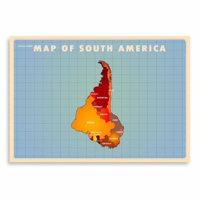 Americanflat South America by Diego Patino Graphic Art in Blue