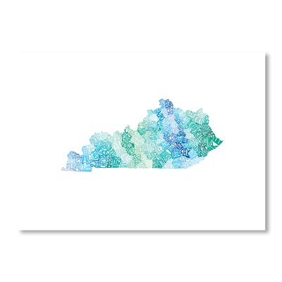 Americanflat Kentucky Cool by Crystal Capritta Typography on Canvas