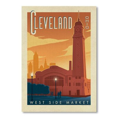Americanflat Cleveland by Anderson Design Group Vintage Advertisement Wrapped on Canvas