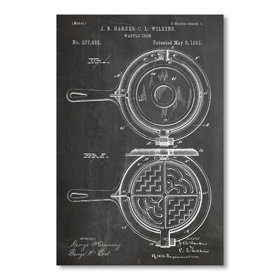 Americanflat Waffle Iron by House of Borders Graphic Art in Black
