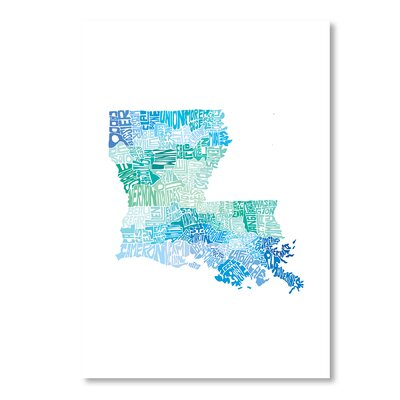 Americanflat Louisiana Cool by Crystal Capritta Typography Wrapped on Canvas