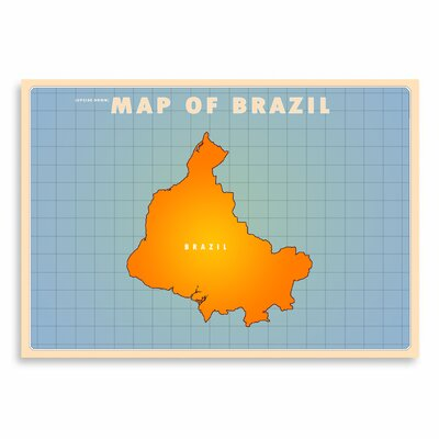 Americanflat Brazil by Diego Patino Graphic Art in Blue