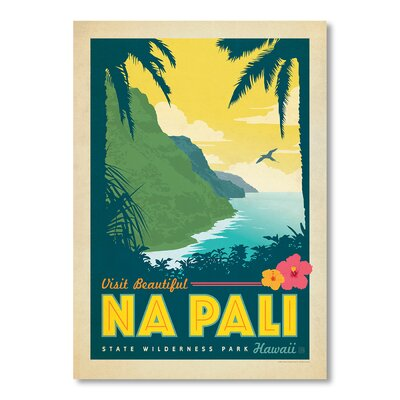 Americanflat Hawaii Na Pali by Anderson Design Group Vintage Advertisement