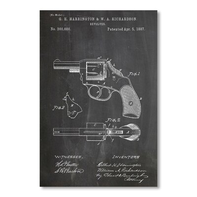 Americanflat Revolver by House of Borders Graphic Art