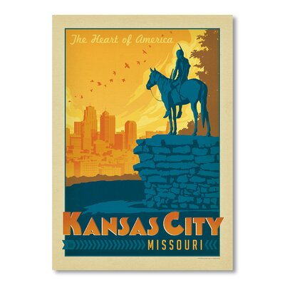 Americanflat Kansas City by Anderson Design Group Vintage Advertisement Wrapped on Canvas