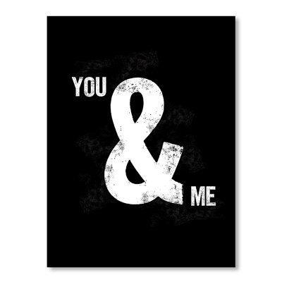 Americanflat You and Me by Brett Wilson Typography Wrapped on Canvas