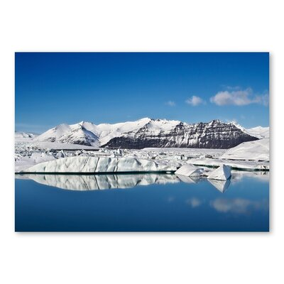 Americanflat Snow Mountain by Lina Kremsdorf Photographic Print in Blue