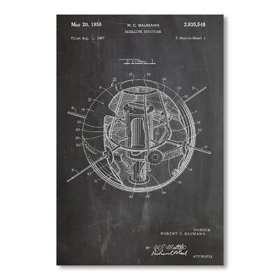 Americanflat Satellite by House of Borders Graphic Art