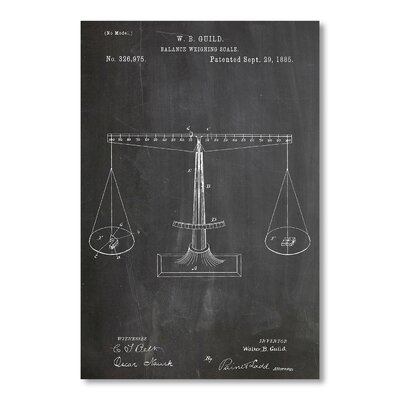 Americanflat Scales of Justice by House of Borders Graphic Art