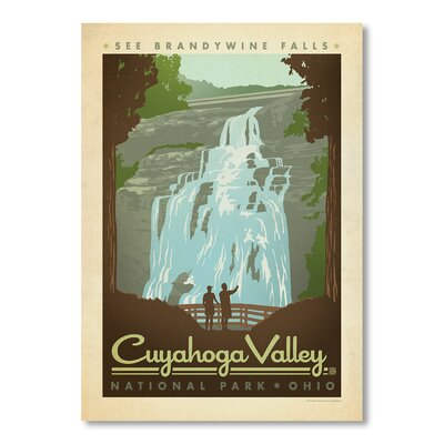 Americanflat National Park Cuyahoga by Anderson Design Group Vintage Advertisementt Wrapped on Canvas