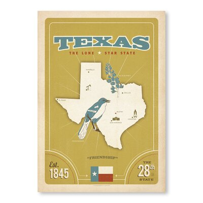 Americanflat State Pride Print Texas by Anderson Design Group Vintage Advertisement Wrapped on Canvas