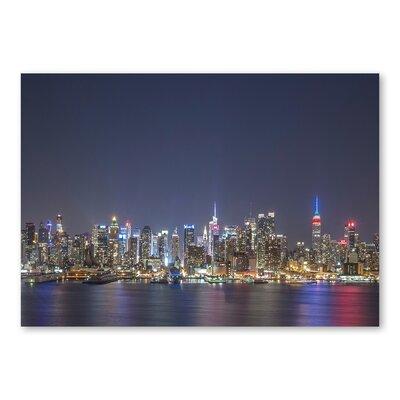 Americanflat Skyscrapers Night by Lina Kremsdorf Photographic Print