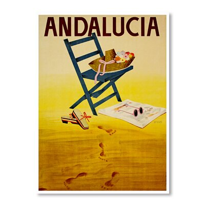 Americanflat Travel Andalucia by Chad Hyde Vintage Advertisement Wrapped on Canvas