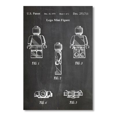 Americanflat Lego Mini Figure by House of Borders Graphic Art