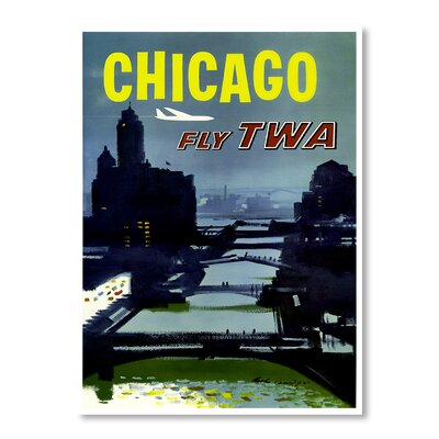 Americanflat Travel Chicago II by Chad Hyde Vintage Advertisement on Canvas