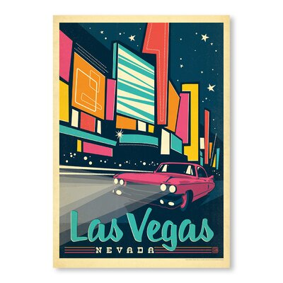 Americanflat Las Vegas Graphic Art Wrapped on Canvas